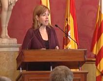 Montserrat Peñarroya en La Llotja presentando Guía de Comercio Electrónico