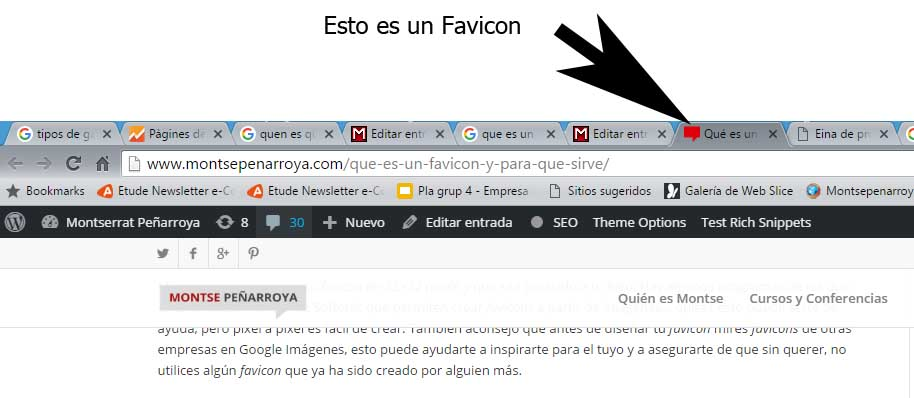 What is a favicon and what is